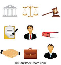 sprawiedliwość, prawo, ikony