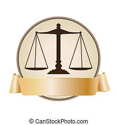 sprawiedliwość, symbol, tabela, wstążka