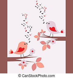 sprytny, śpiew, ptaszki