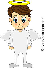 sprytny, anioł, chłopiec