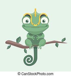 sprytny, chameleon.