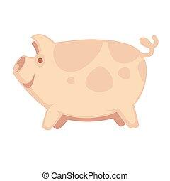 sprytny, cielna, świnia