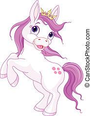 sprytny, koń, do góry, budowanie, księżna