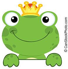 sprytny, książę, żaba