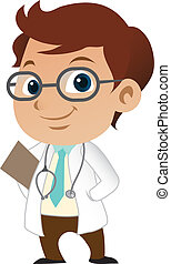 sprytny, mały, męski doktor