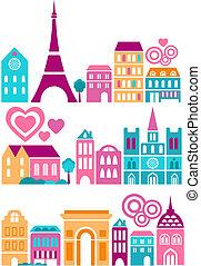 sprytny, miasta, wektor, ilustracja, świat