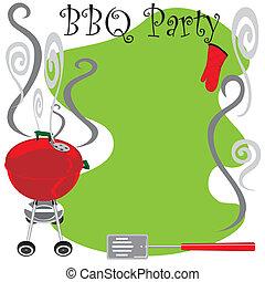 sprytny, partia, bbq, zaproszenie