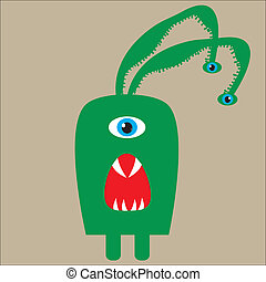 sprytny, poczta, zielony potwór, projektować