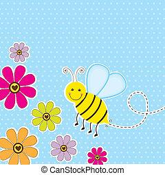 sprytny, pszczoła
