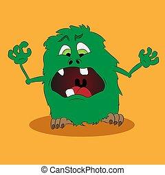 sprytny, zielony potwór