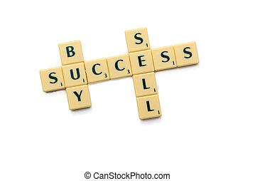 sprzedawać, kupować, powodzenie
