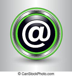 srebro, ikona, zielony, email