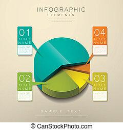 sroka, abstrakcyjny, 3d, wykres, infographics