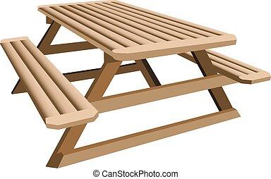 stół, piknik