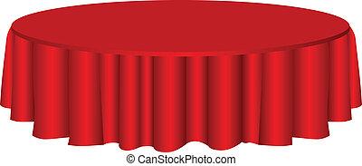 stół, tablecloth, okrągły