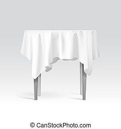 stół, tablecloth, wektor, okrągły, opróżniać