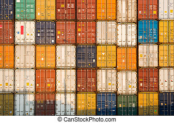 stóg, kontenery