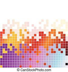 stabilizator, barwny, abstrakcyjny, tło, cyfrowy, pixels