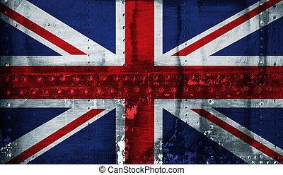 stal, zrzeszeniowa bandera, lewarek, tło