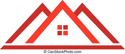 stan, logo, dom, prawdziwy