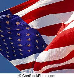 stany, bandera, zjednoczony, -, ameryka