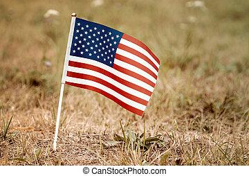 stany, bandera, zjednoczony, gruntowy