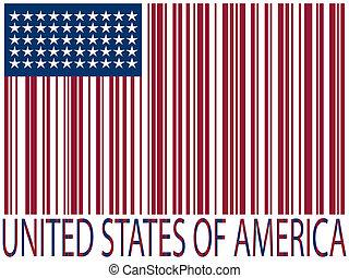 stany, bandera, zjednoczony, zasuńcie dorsze
