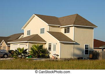 stany, dom, zjednoczony, mieszkaniowy