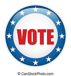 stany, głos, zjednoczony, wybór, button.