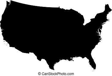 stany, mapa, zjednoczony, -