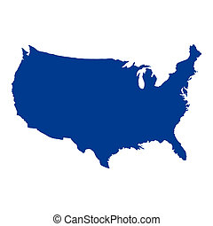 stany, mapa, zjednoczony, ameryka