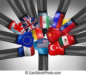 stany, międzynarodowy, zjednoczony, współzawodnictwo