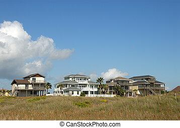 stany, mieszkaniowy, zjednoczony, południowy, domy