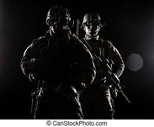 stany, radiopelengatory, zjednoczony, armia