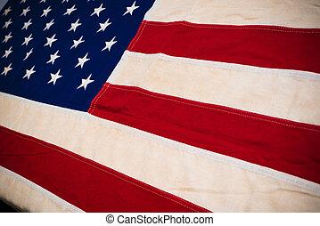 stany, szczelnie-do góry, zjednoczony, bandera