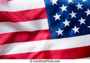 stany, tło., bandera, zjednoczony