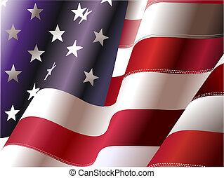 stany, zjednoczony, –, afisz, projektanci, niezależność, 4, dzień, america., lipiec, graficzny