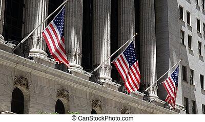 stany, zjednoczony, bandery, ameryka