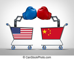 stany, zjednoczony, porcelana, wojna, handel