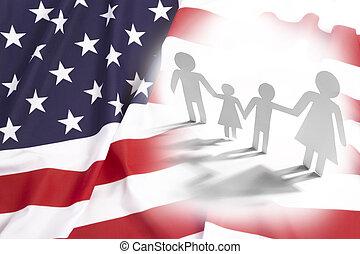 stany, zjednoczony, rodzina