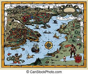 starożytna mapa