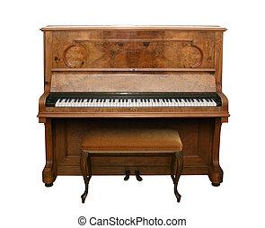 starożytny, ścieżka, piano