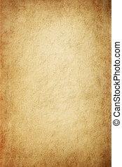 starożytny, żółtawy, pergamin
