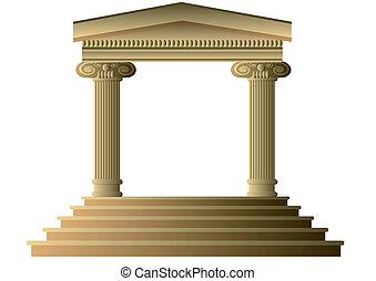starożytny, kolumny