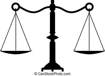 starożytny, sprawiedliwość, wektor, skalpy