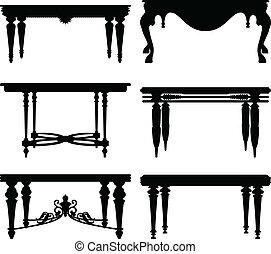 starożytny, stół, starożytny, klasyk