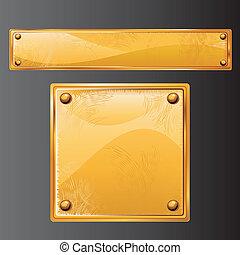 starożytny, złoty