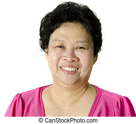 starsza kobieta, asian