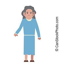starsza kobieta, ikona
