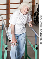starsza kobieta, terapia, ambulatory, posiadanie